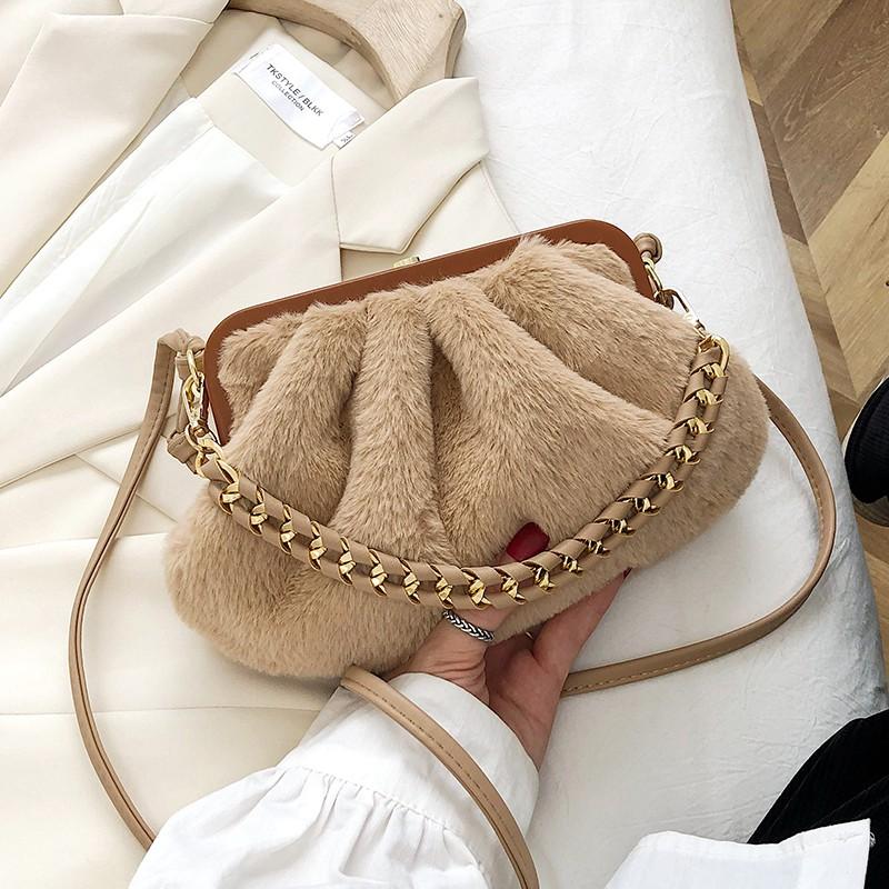 【现货】秋冬上新小包包女包2020流行新款潮時尚網紅斜挎包百搭ins毛毛包