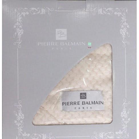 法國 PIERRE BALMAIN 立體蜂巢法蘭 絨毯/毛毯/毯子 米色 透氣纖維 不掉毛、不起毛球 特殺$299