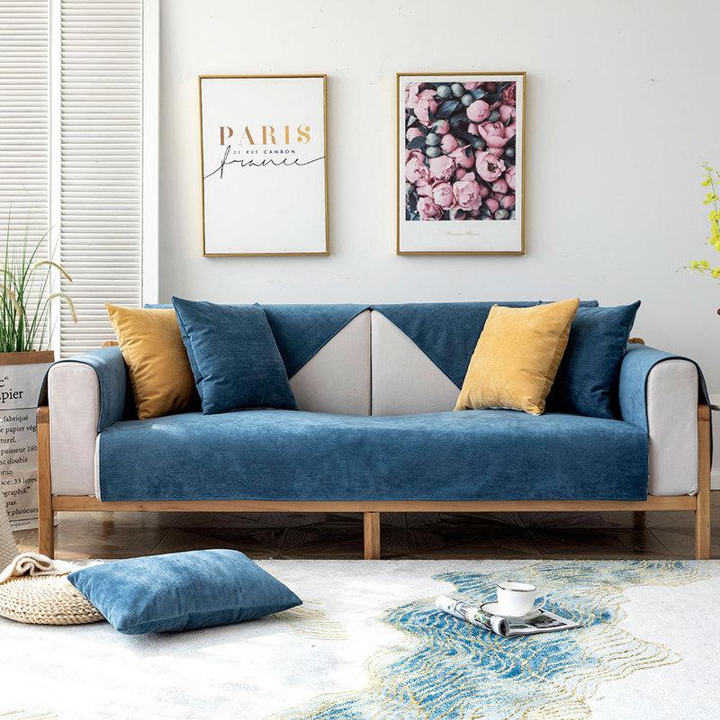 🔥現貨🔥ins北歐款沙發套 布藝四季通用沙发套 防滑皮坐墊子套罩 單人雙人三人四人組合沙發墊 防水沙發墊