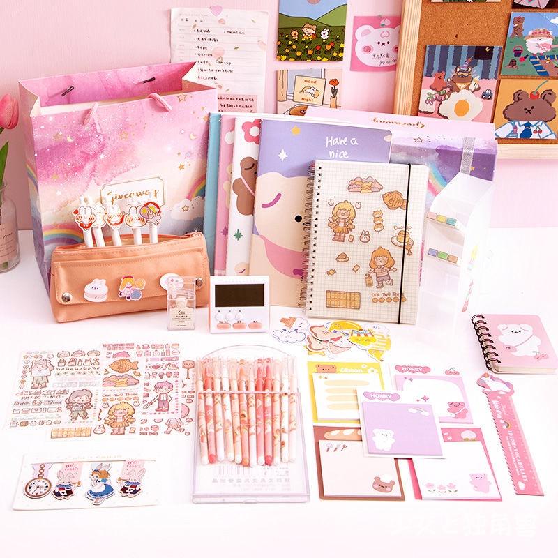 世博ps 免運 文具盲盒超值學習大禮包套裝女生手賬筆袋小學生禮物創意獎品禮品