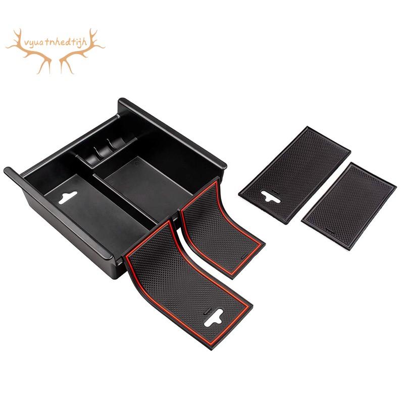 汽車內飾配件扶手中控台儲物盒,帶防滑墊,適合豐田4Runner 2010-2020