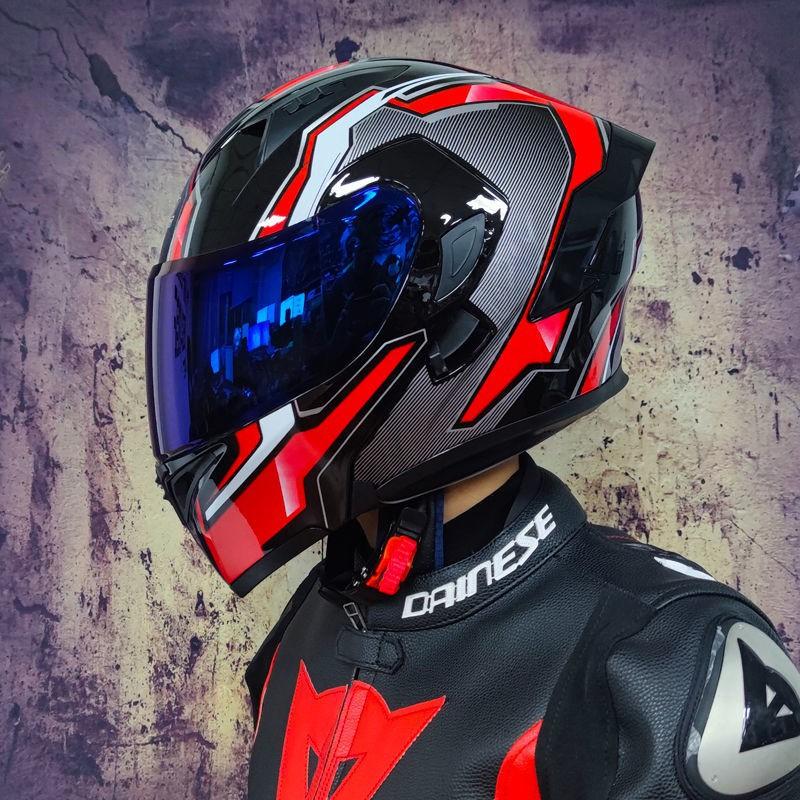 蟹老闆的店●☀Orz頭盔男女電動摩托車揭面盔全盔尾翼半盔安全帽個性冬季機車灰