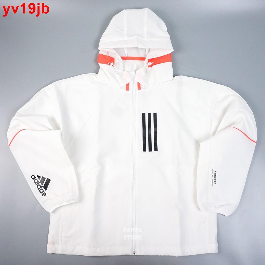 【妮妮】ADIDAS W.N.D. 風衣 防風 連帽 外套 GF0131 白 女