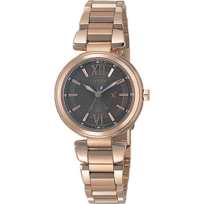 CITIZEN星辰 手錶 ES5013-53W xC 光動能時尚佳人萬年曆電波女錶-IP金 保固二年 廠商直送