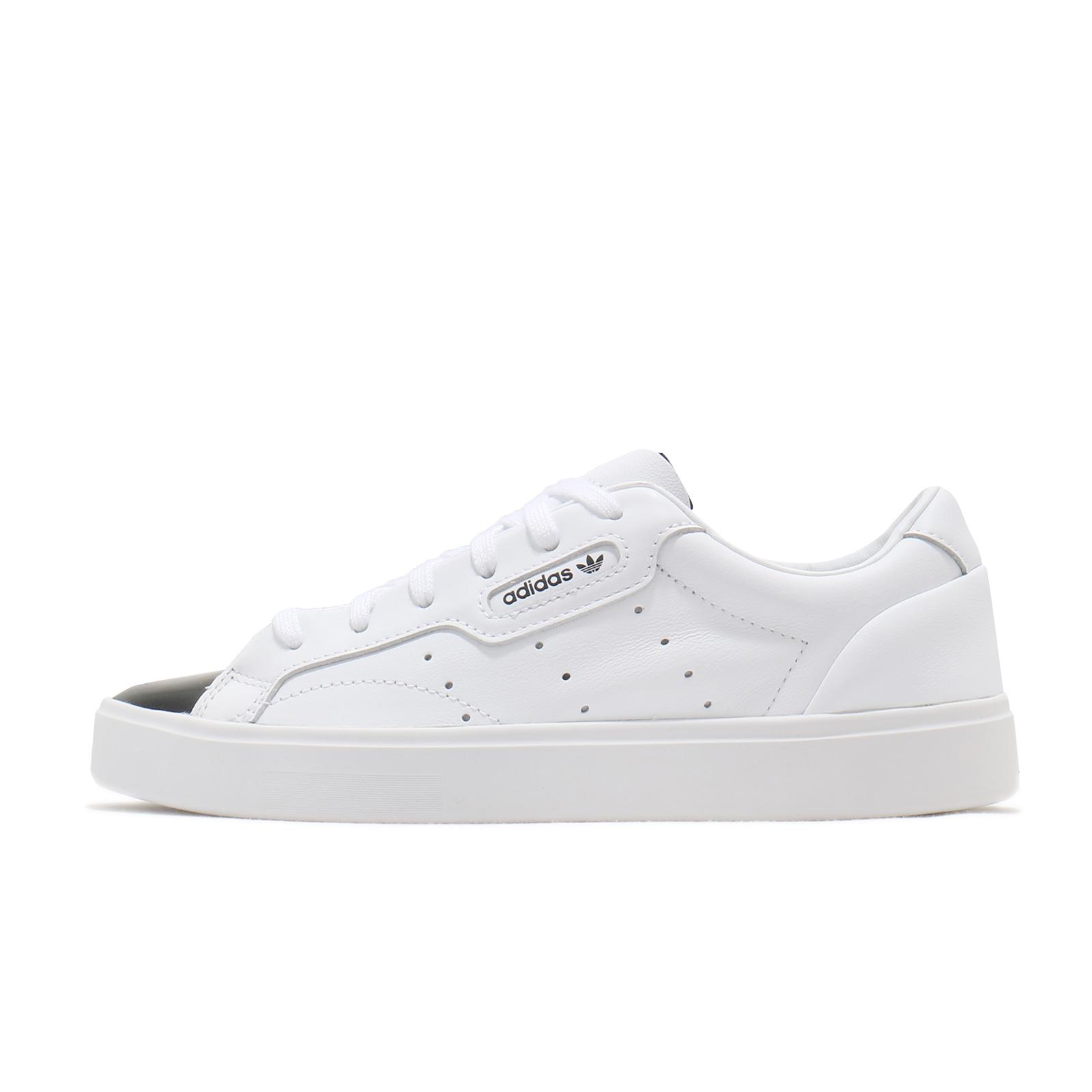 adidas 休閒鞋 Sleek W 白 黑 小白鞋 愛迪達 三葉草 女鞋 黑頭 【ACS】 EE4709