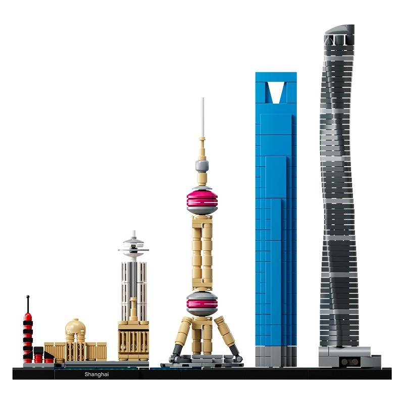 樂高lego建筑系列拼裝玩具 上海天際線21039 倫敦21034 悉尼21032