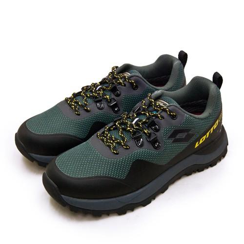 【LOTTO】專業防水郊山戶外越野跑鞋 FALCO隼系列 灰綠黑 2555 男
