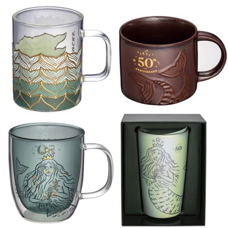 星巴克 日本🉐 50週年 50女神 馬克杯 雙層馬克杯 魚尾玻璃杯 雙層玻璃杯