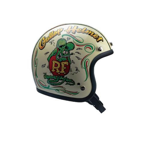 【MOONEYES】 Gallop X Rat Fink 老鼠芬克 聯名限定安全帽窄版小帽體 米白下單處