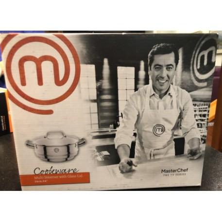 台北面交 全新出售 MasterChef廚神當道24公分雙柄萬用鍋(附蓋)7.8公升 頂好 鍋子(萬用蒸氣鍋)