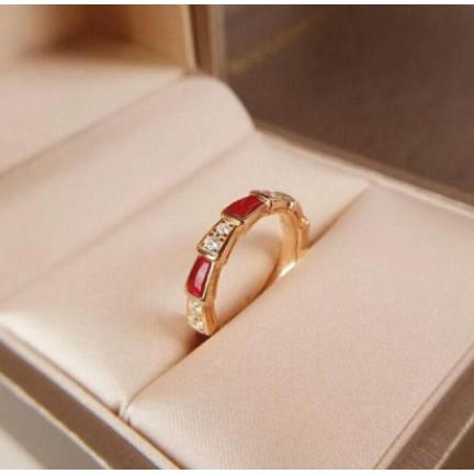 現貨正品  Bvlgari 寶格麗 戒指 18K玫瑰金 紅玉髓  鉆石 蛇形戒指  353325 送女朋友禮物