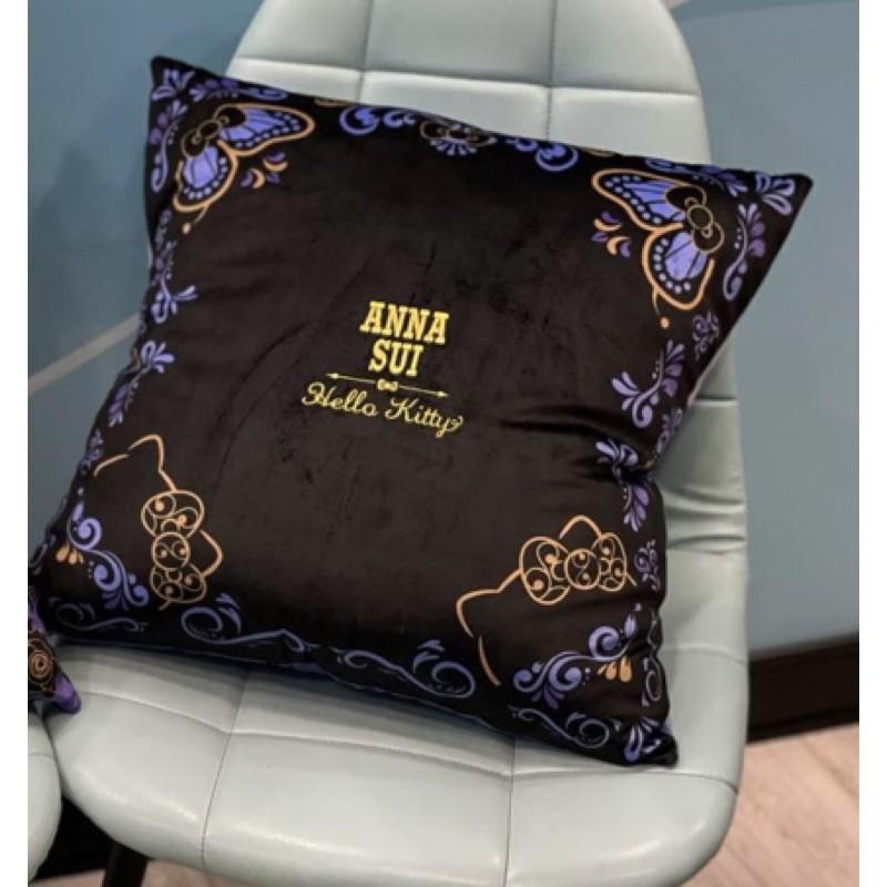 現貨免運!7-11Anna Sui Kitty刺繡抱枕保暖毯(神秘黑)
