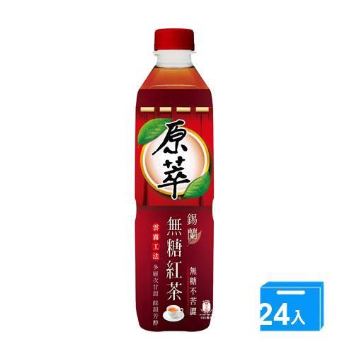原萃錫蘭無糖紅茶580mlx24【愛買】