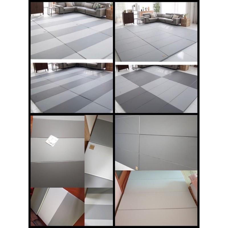 💝韓國 Caraz 140*200*4cm 新灰色 / 全灰 4折 折疊 遊戲 爬行 地墊