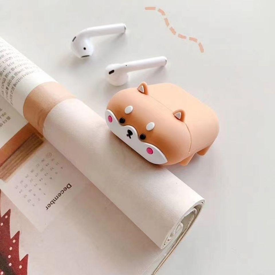 AirPods保護套 保護殼 趴趴柴犬 適用於蘋果耳機 Airpods 1/2代 Airpods Pro3代