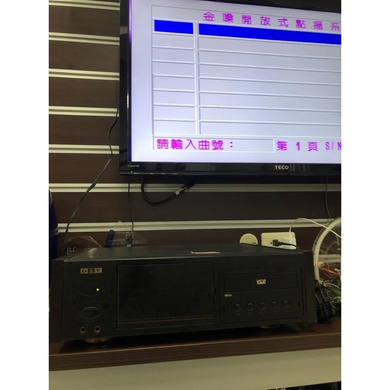 二手金嗓電腦伴唱機/目錄點歌接上麥克風就可唱CPX-900含遙控器但是歌本不見喔!