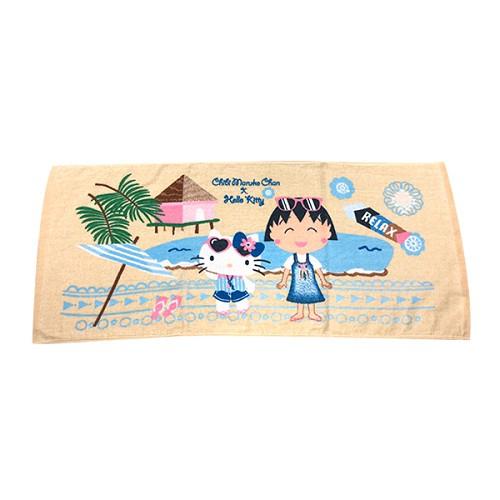 凱蒂貓x小丸子海灘風情毛巾【康是美】