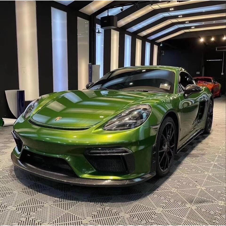 【M.GARAGE】Porsche 718 改 GT4 前保桿 碳纖 前下巴 風口 大包