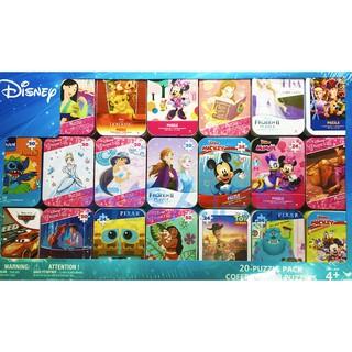 【有錢人店鋪】迪士尼拼圖 好市多 costco 迪士尼迷你拼圖 迷你拼圖 鐵盒拼圖 迪士尼公主 新北市