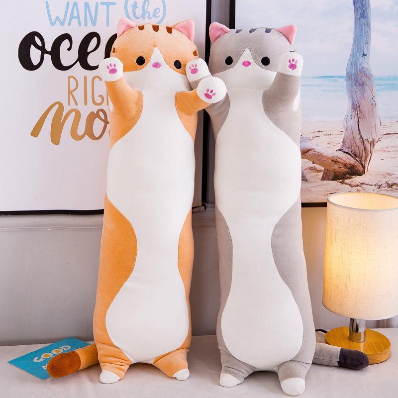 睡貓擁抱枕頭毛絨貓娃娃軟毛絨小貓枕頭禮物給孩子女友