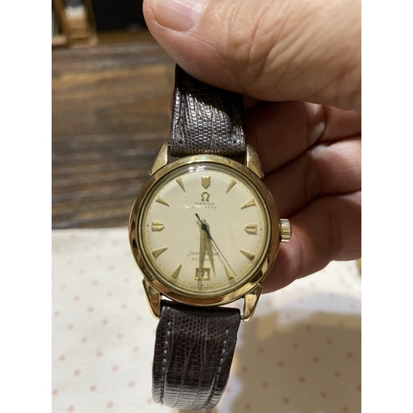 omega 歐米茄 海馬 古董錶18k 自動撞搥 手錶 男錶