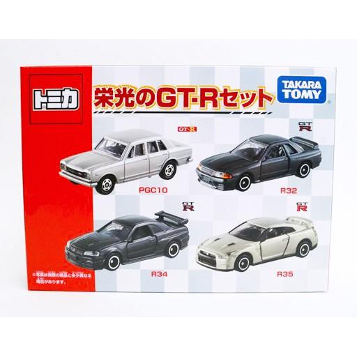 【秉田屋】現貨 日版 Tomica 多美 Takara Tomy Nissan 日產 榮光 GT-R Set 4車組套裝