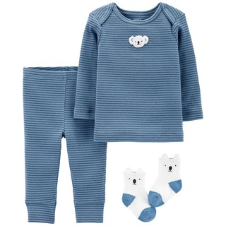 【現貨】【Carter's 美國童裝知名品牌 - 嬰幼兒秋冬裝家居服、套裝3件組 無尾熊 禮盒 6M】 桃園市