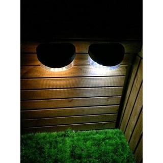【太陽能百貨】L-08 保固三個月 太陽能籬笆燈 8LED 太陽能 籬笆燈 圍欄片 柵欄燈 小壁燈 花園燈 高雄市