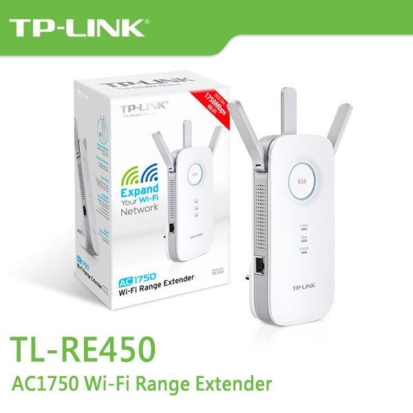 TP-LINK RE450 Wi-Fi 範圍擴展器 AC1750 Wi-Fi AP 【每家比】