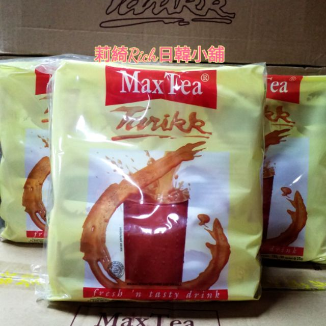 超人氣 印尼 MaxTea 印尼拉茶 25gx30包 750g 美詩泡泡奶茶 奶茶 沖泡飲品💕莉綺Rich日韓小舖💕