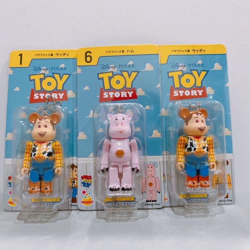 玩具總動員 be@rbrick 胡迪 100% 火腿豬 絕版 庫柏力克 熊 皮克斯 迪士尼