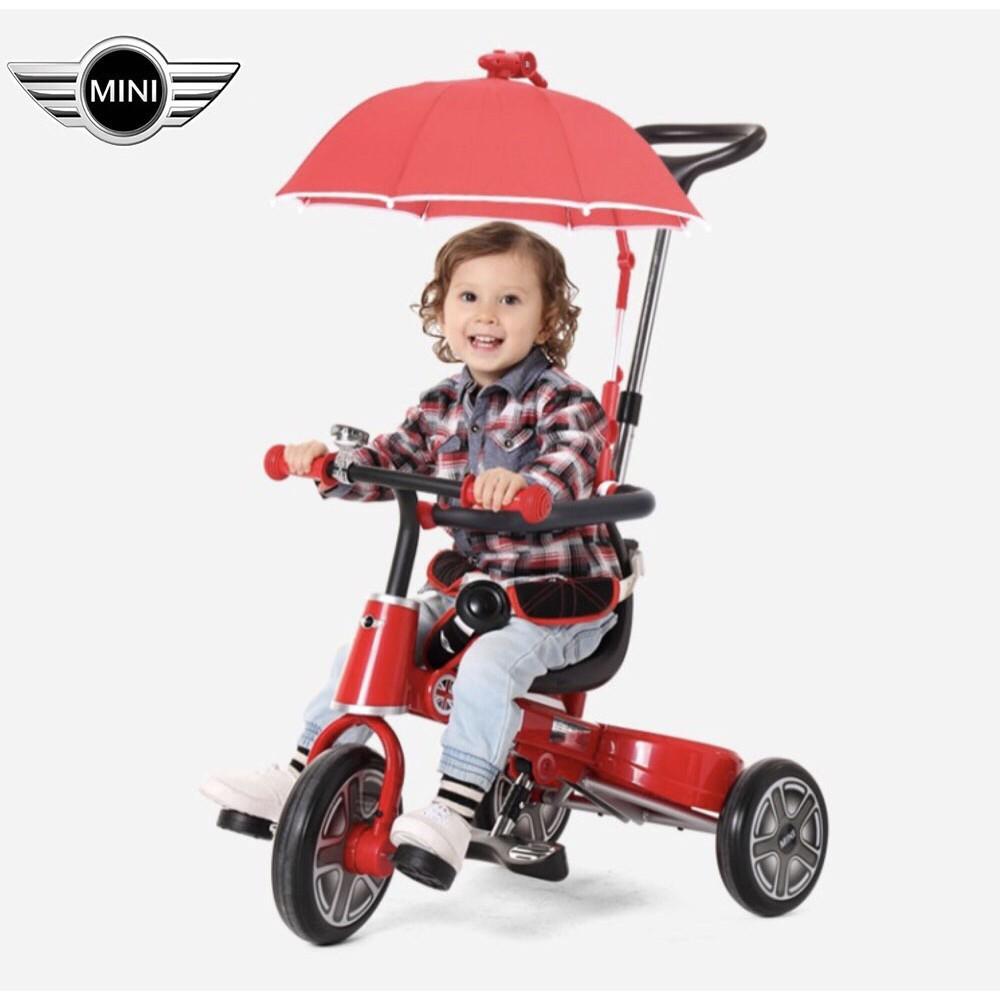 ☆現貨在台灣-德國正品BMW官方授權MINI Cooper兒童摺疊腳踏車/精品三輪車/手推車腳踏車/一鍵折疊軟皮座椅