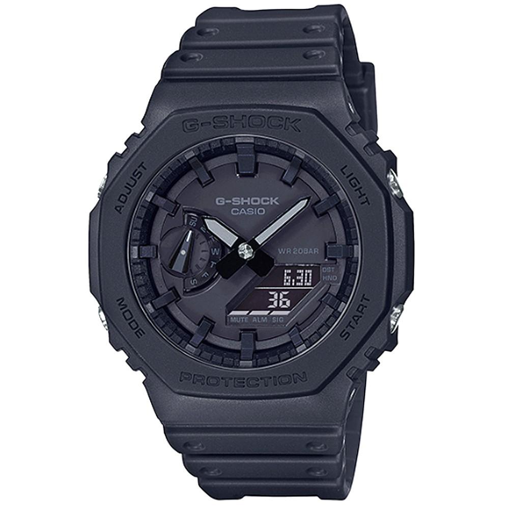 【CASIO】卡西歐G-SHOCK 鬧鈴電子錶-黑 / GA-2100-1A1 (台灣公司貨)