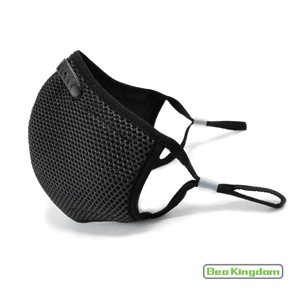 【Deo Kingdom】3D防護雙層單網布可更換濾片口罩(黑色)_MIT/防空氣污染/機車族口罩/戶外運動口罩