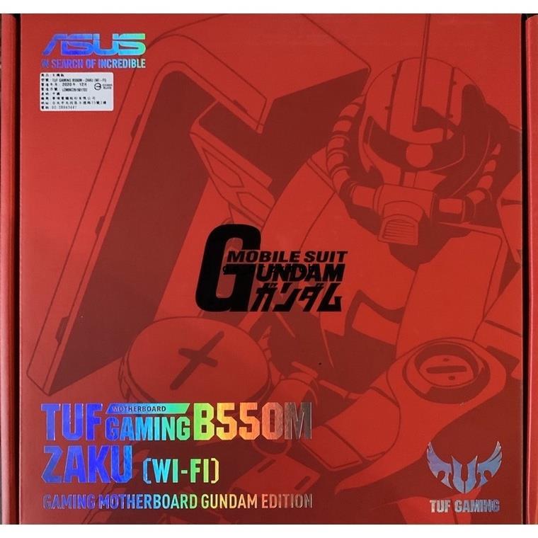 🔥【現貨】含稅開發票 全新 華碩 薩克 TUF GAMING B550M-ZAKU(WI-FI) Gundam 主機板
