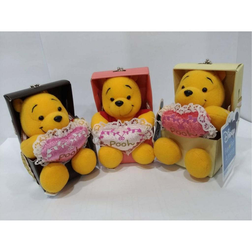 *晞晞景品珍藏* 絕版 2008  Disney Plush Pooh 小熊維尼 禮物造型 吊飾 正版 景品 珍藏 現貨