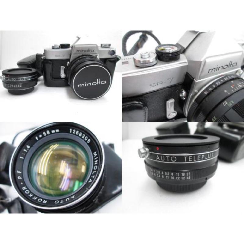 底片 單眼相機 Minolta SR 7 md 58mm f1.4 鏡頭 2⃣️倍晉