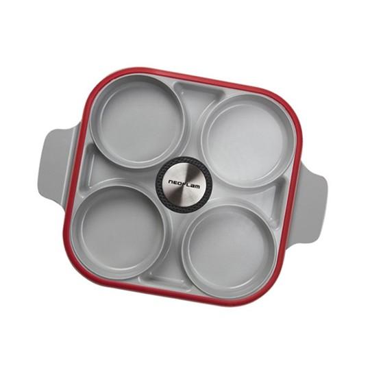 Neoflam 雙耳四格多功能煎鍋含蓋 28 公分   COSCO代購 W124266