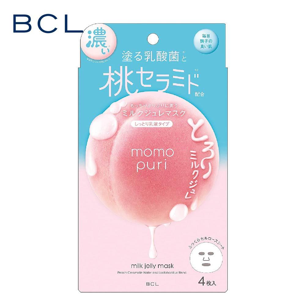 【BCL】momopuri 彈潤蜜桃濃潤面膜 4枚入 官方旗艦店