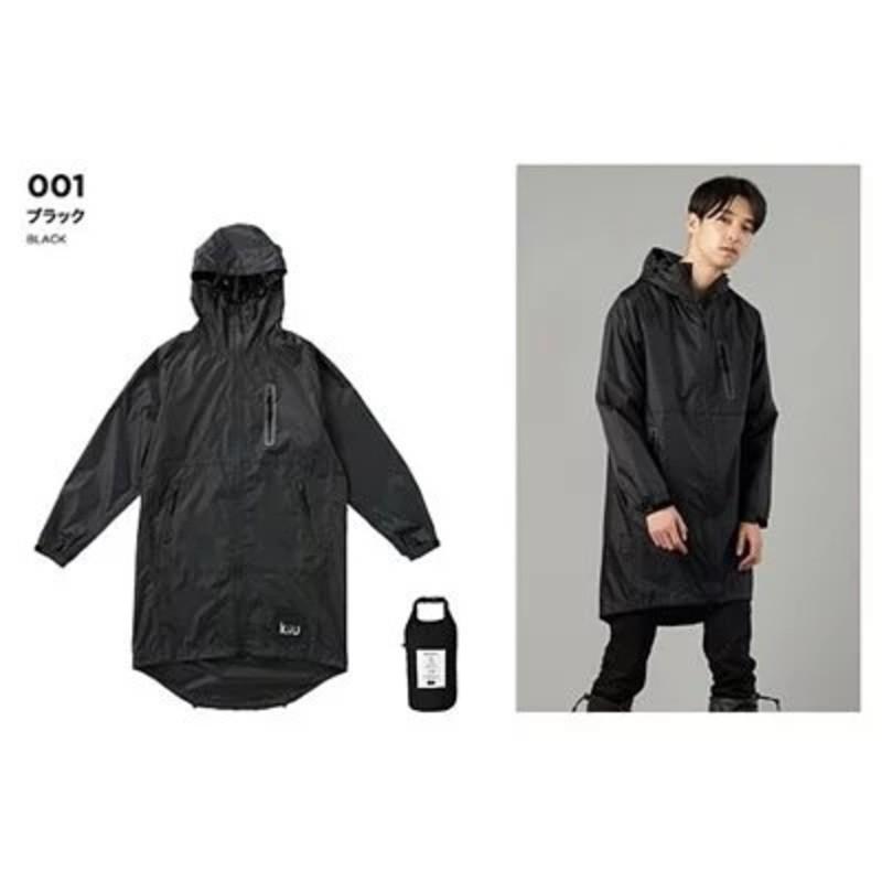KIU 日本軍風防水斗篷雨衣|防水風衣 [附收納袋]