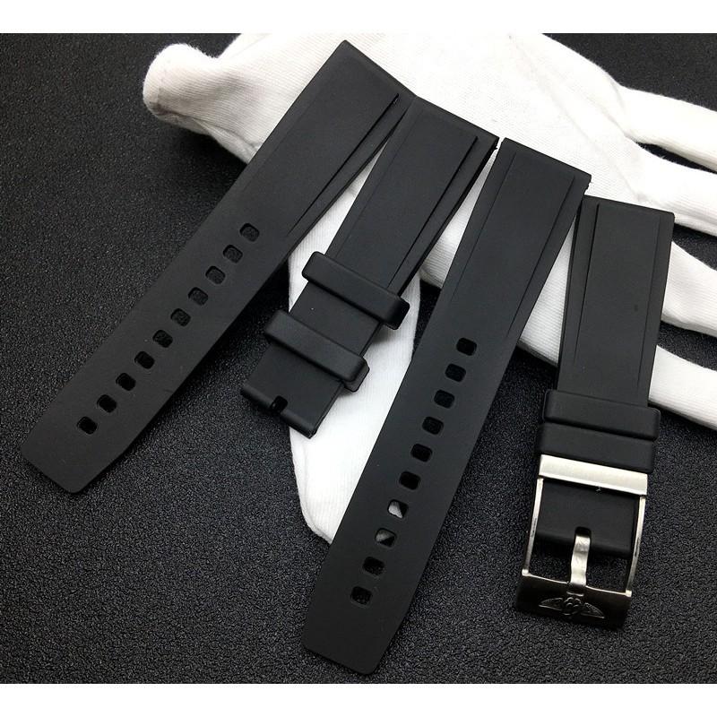 爆款熱賣進口硅膠適配Breitling百年靈黑鳥復仇者海洋文化手表帶22mm海狼
