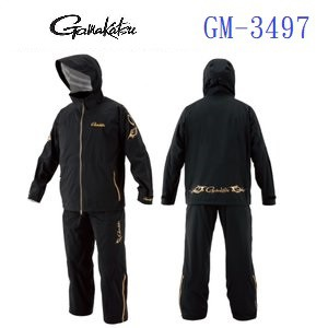 濱海釣具 GAMAKATSU Super Stretch 釣魚雨衣 GM-3497 黑色