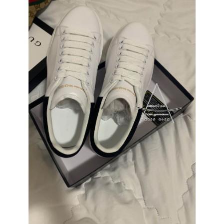 【Alina二手】全新 Alexander McQueen 麥昆小白鞋 黑尾/粉尾 男女同款!黑尾賣場