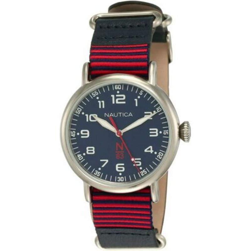 Nautica中性手錶 NAPWLS902 Wakeland 40mm N83 藍色錶盤皮革手錶