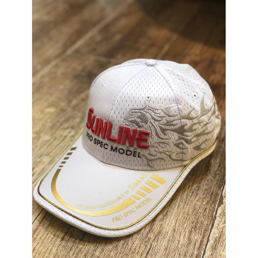 SUNLINE 19年新款 獅子LOGO 透氣網布 釣魚帽 帽子 戶外帽 透氣 釣魚帽 帽子 網帽
