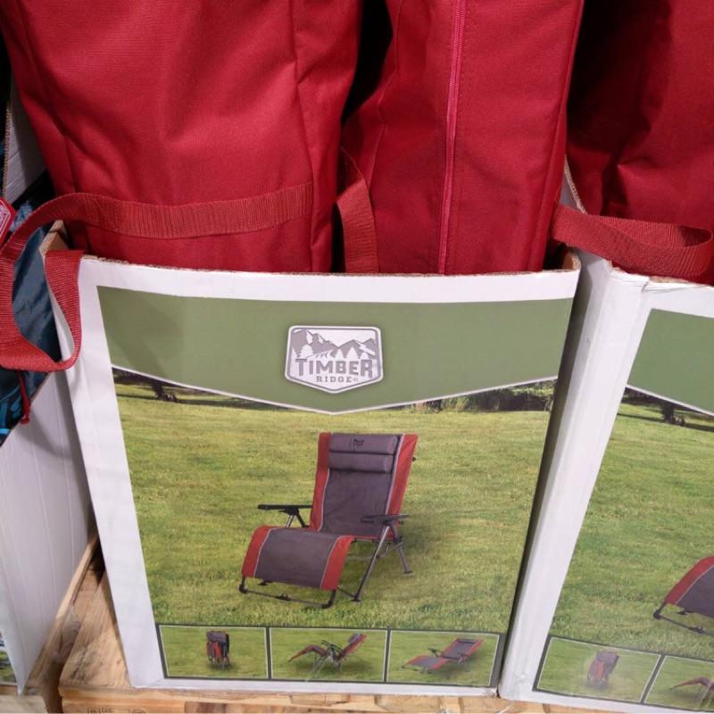 好市多 COSTCO 代購~ TIMBER RIDGE 折疊式戶外休閒躺椅 QUAD FOLDING LOUNGER