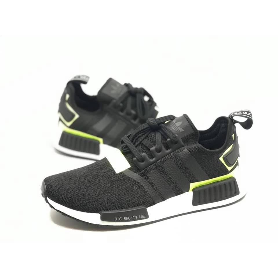 f2d9b22d79316 ADIDAS ORIGINALS NMD R1 black volt 黑綠男款復古慢跑鞋BD7751 - 蝦皮 ...