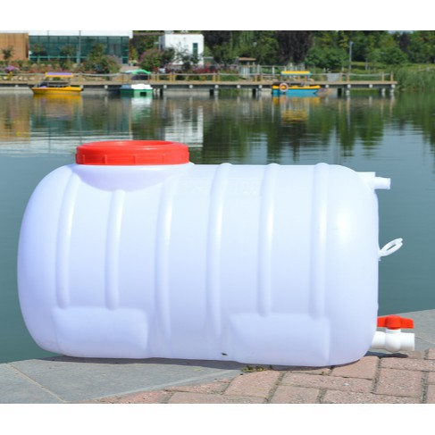 家用食品級大號臥式塑膠桶長方形加厚儲水桶200L水塔儲水箱帶龍頭