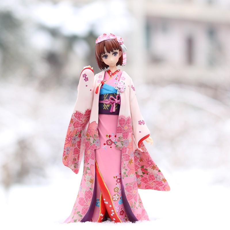 和服加藤惠路人女主的養成方法圣人惠美少女成人手辦動漫擺件模型