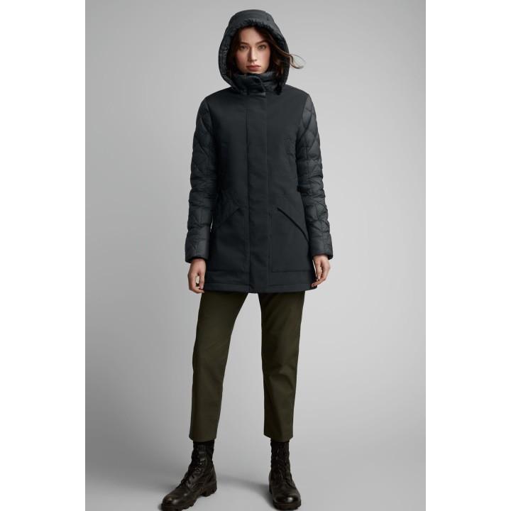 全新真品現貨 加拿大鵝 canada goose berkley jacket 黑色XS 號 拼接中長版羽絨外套